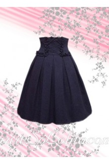 Blue Cross Rope Corset Lolita Skirt