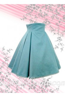 Ruffled Blue Petal Hem Lolita Skirt