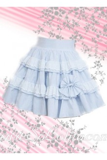 Short Skyblue Sweet Pleated Lolita Skirt