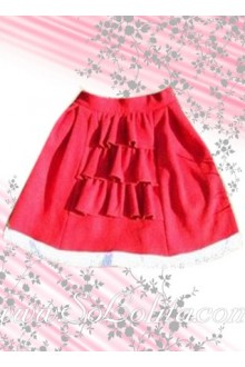 Mini Red Ruffled Lolita Skirt