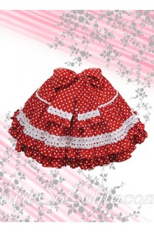 Red bow Polka Dots Lovely Lolita Skirt