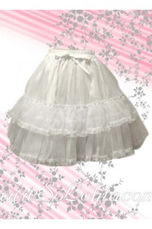 Pure White Multilayers Sweet Lolita Skirt
