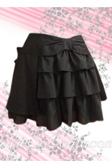 Ruffle Multilayers Black Fashion Lolita Skirt