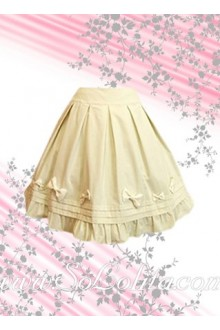 Bow Ruffle Petal Hem Simple Fashion Lolita Skirt