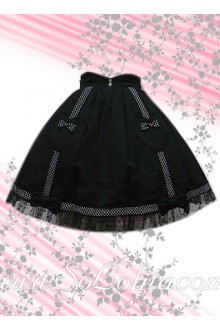 Hotsale Sweetheart and Bow Black Lolita Skirt