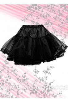 Black Multilayer Puff Mini Lolita Skirt