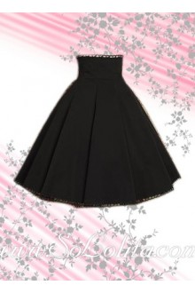 Black Ruffle Elegance Long Lolita Skirt