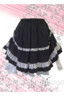 White Petal Hem Layers Kawayi Lolita Skirt