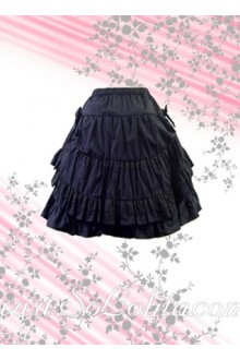 Multi-Layer Blue Ruffle Lolita Skirt