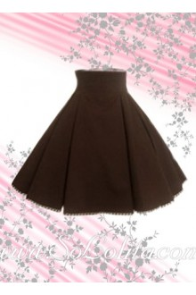 Brown Ruffle Simple Fashion Lolita Skirt