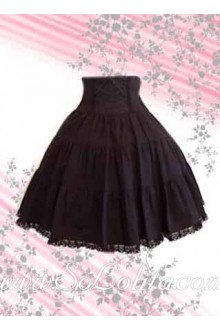 Brown Lace Petal Hem Pleated Lolita Skirt