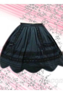 Kawayi Pleated Petal Hem Lolita Skirt