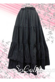 Ruffle Long Classic cotton Lolita Skirt