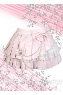 Kawayi Sweet Pink Lace Multi-layer Lolita Skirt