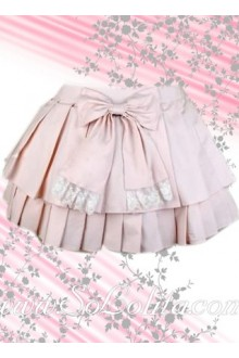 Kawayi Bow Pink Multi-layer Mini Lolita Skirt