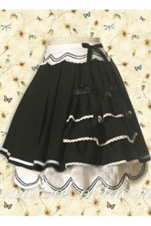 Lovely Black and White Multi-layer Lolita Skirt