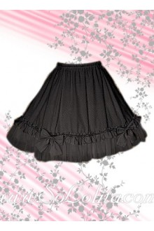 Lovely Bow Pleated Hem Lolita Skirt