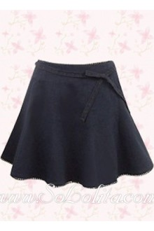 Dark Blue Simple Fashion Lolita Skirt