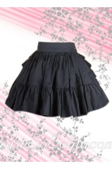 Lovely Black Ruffle Mini Lolita Skirt