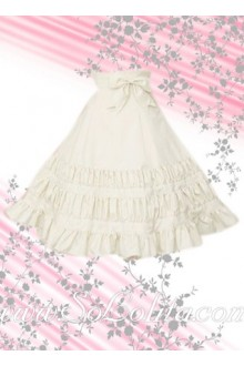 Pure White Hotsale Pleated Elegance Lolita Skirt