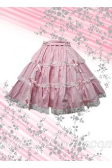 Sweet Pink Pleated Hotsale Lolita Skirt