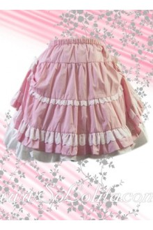 Sweet and Lovely Pink Ruffle Lolita Skirt