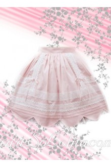 Kawaii Pink Petal Hem Mini Lolita Skirt